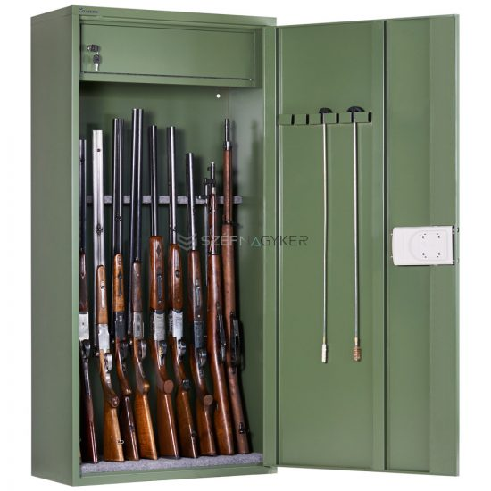 Artemisz® Minőségi fegyverszekrény elektronikus zárral - 10db vadászfegyver tárolására