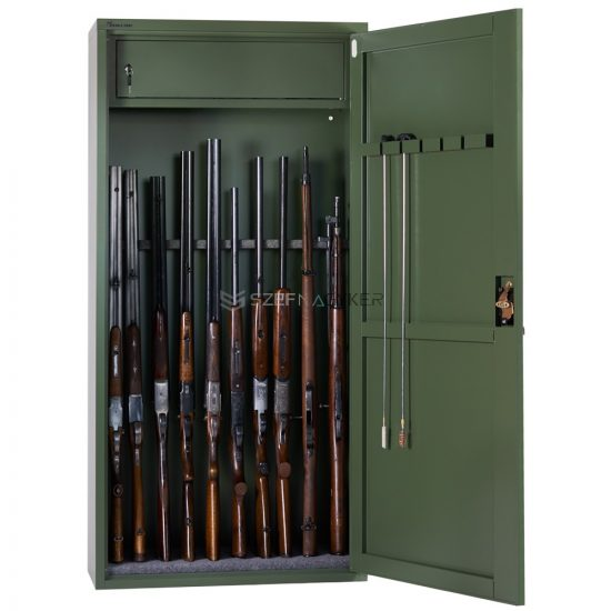 Artemisz® Minőségi fegyverszekrény kulcsos zárral - 10db vadászfegyver tárolására
