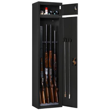 Artemisz® Minőségi fegyverszekrény - 5db vadászfegyver tárolására-Fekete