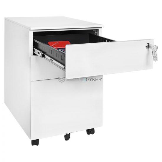 Artemisz® Gurulós fém irodai kis szekrény (Konténer)