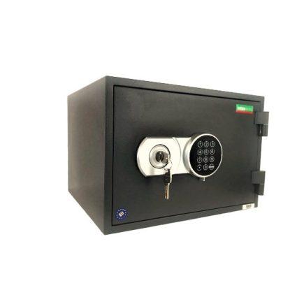 Kronberg® Fire30 tűzálló páncélszekrény kulcsos és elektronikus zárral