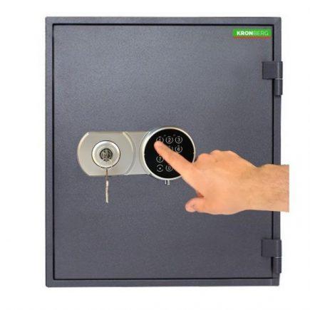 Kronberg® Fire51 tűzálló páncélszekrény kulcsos és elektronikus zárral