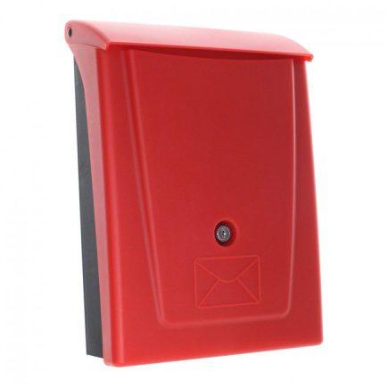 Rottner® Posta műanyag postaláda kulcsos zárral piros színben