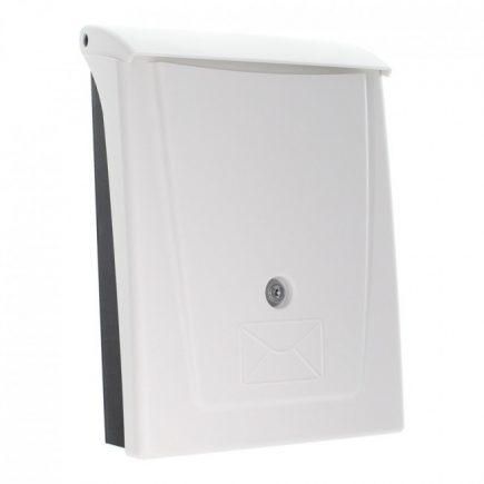 Rottner® Posta műanyag postaláda kulcsos zárral fehér-fekete színben