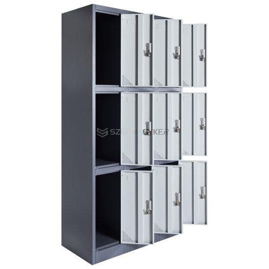 Artemisz® Rövid ajtós öltözőszekrénye 9-rekeszes kivitel
