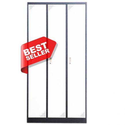 Artemisz® Hosszú ajtós öltözőszekrénye 3-ajtós kivitelben