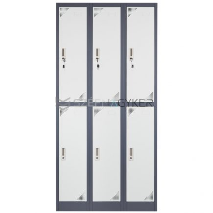 Artemisz® Rövid ajtós öltözőszekrénye 6-rekeszes kivitel